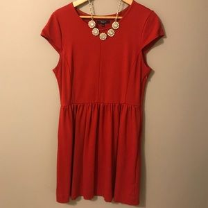 Madewell Ponte Screenplay Dress Red - short sleeve